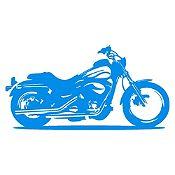 Vinilo Moto Harley Azul Claro Medida M