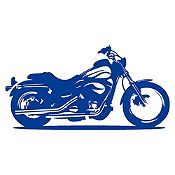 Vinilo Moto Harley Azul Oscuro Medida M