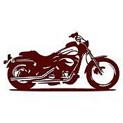 Vinilo Moto Harley Marrón Medida G