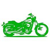 Vinilo Moto Harley Verde Claro Medida G