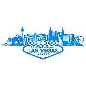 Vinilo Las Vegas Azul Claro Medida G