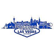 Vinilo Las Vegas Azul Medio Medida P