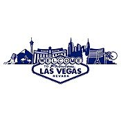 Vinilo Las Vegas Azul Oscuro Medida G