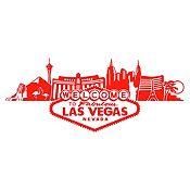 Vinilo Las Vegas Rojo Medida G