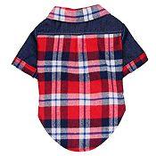 Camisa con Jean Cuadros Rojos y Azules