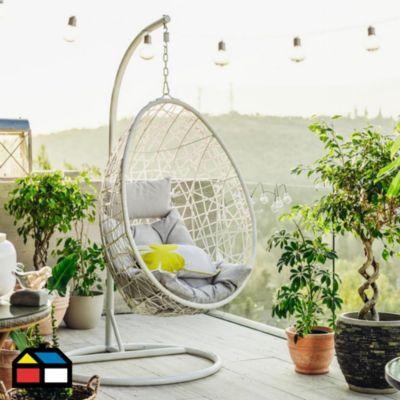 Silla Colgante Blanco con soporte - Sodimac.com.pe