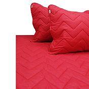 Quilt C/ Funda Sham Rojo 2 Plazas