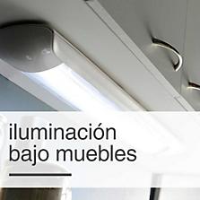 Iluminación bajo muebles