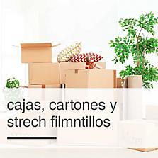 Cajas, cartones y strech film