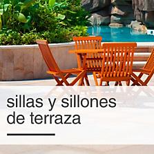Sillas y sillones de Terraza