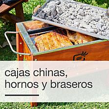 Cajas chinas, hornos y braseros