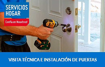 Visita técnica e instalación de puertas