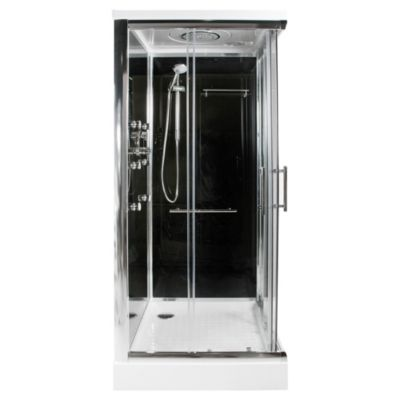 Cabina de ducha cuadrada 90 x 90 x 215 cm sensi d 39 acqua - Cabina de duchas ...