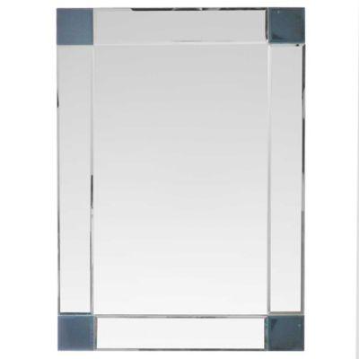 Espejo para baño con marco de vidrio 50 x 70 cm