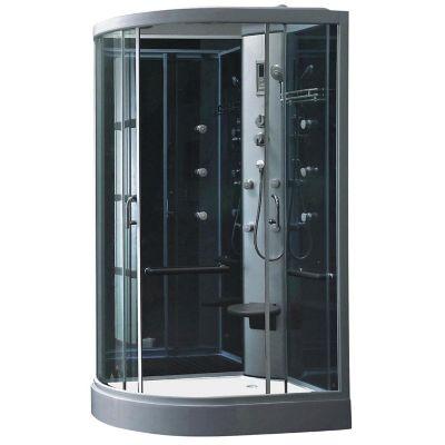 Cabina de ducha con hidromasaje y radio 80 x 120 x 218 cm for Instalacion cabina ducha