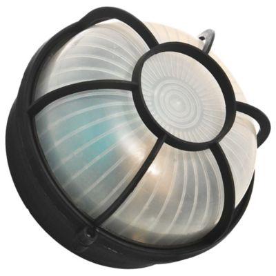 Tortuga plástica redonda negra 1 luz E27