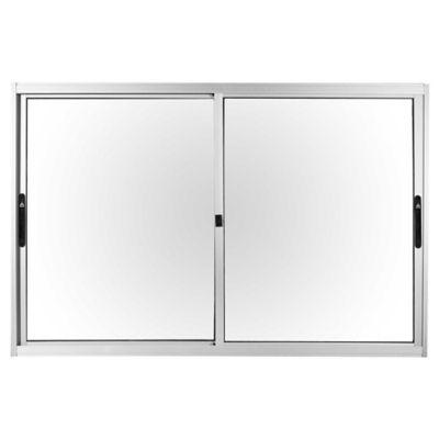 Ventana de aluminio anodizado prem gris 150 x 100 cm sm for Ventanas aluminio gris antracita