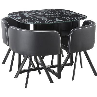 Juego de comedor Ciudades 1 mesa y 4 sillas - Just Home Collection ...