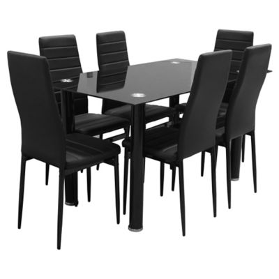 b6e6ebb3844 Juego de comedor Kiel 1 mesa y 6 sillas - Just Home Collection - 217975X