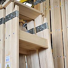 Escaleras tijera de madera