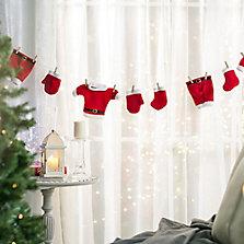 Guirnalda y cintas navideñas